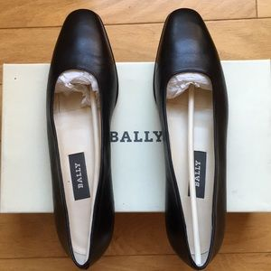 Bally Napa leather ballet flats made in Italy